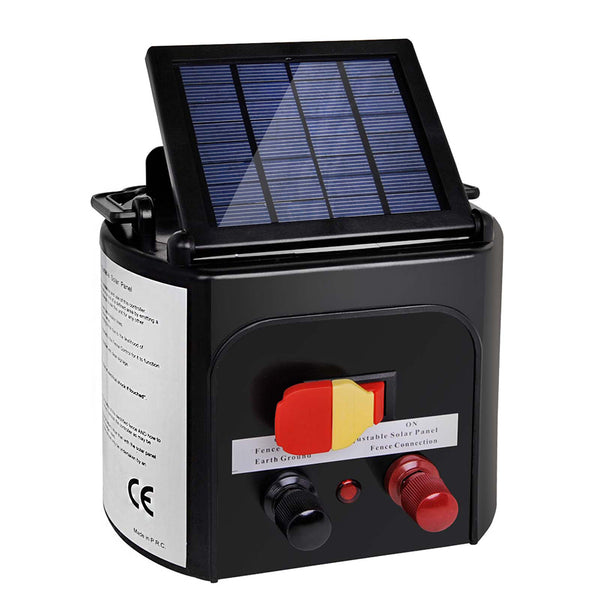 Solar Power Electric Fence Energiser Energizer Charger 8Km / 0.3J