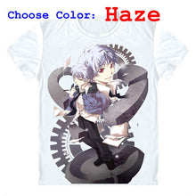 Future Diary Mirai Nikki T-Shirts Short Sleeve Shirts Japanese Anime Akise Aru Paradox Observer by Deus Ex Machina Cosplay Shirt