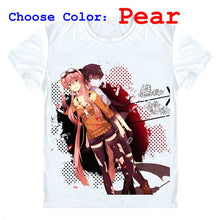 Future Diary Mirai Nikki T-Shirts Short Sleeve Shirts Japanese Anime Amano Yukiteru Jupiter First Yukkii Yuki-kun Cosplay Shirt