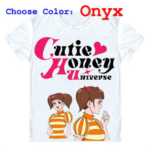 Cutie Honey Universe T-Shirts Short Sleeve Shirts Anime Honey in various costumes Honey Kisaragi Kisaragi Hani Cosplay Shirt