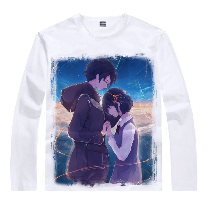 Japanese Anime Kimi No Na Wa Unisex Long Sleeve T Shirts Of
