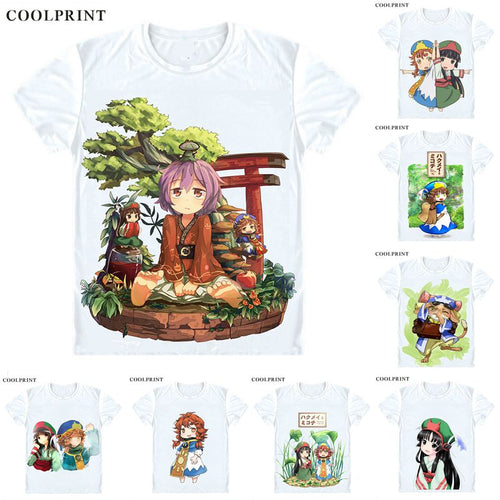 Hakumei and Mikochi T-Shirts Short Sleeve Shirts Japanese Anime Tiny Little Life in the Woods Hakumei to Mikochi Cosplay Shirt