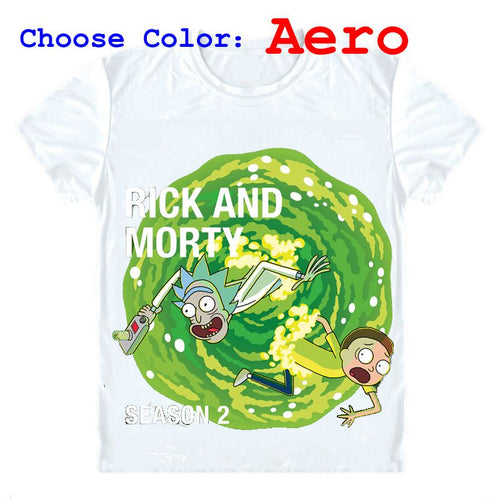 Rick and Morty T-Shirts Short Sleeve Shirts Anime Rick and Morty Rick Sanchez Mad scientist Morty Smith Cosplay Shirt