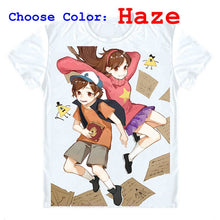 Gravity Falls T-Shirts Short Sleeve Shirts Anime Mason Dipper Pines Mabel Pines Bill Cipher Eye of Providence Cosplay Shirt