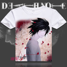 Japanese manga Death Note T-Shirts anime shirt of Light Yagami and L Lawliet, Cartoon Printing Shirt Japanese