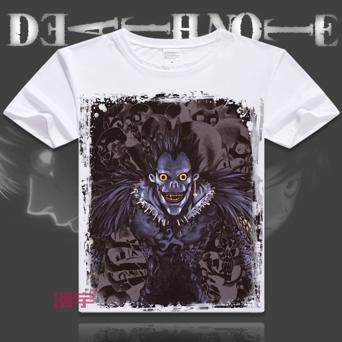 Japanese manga Death Note T-Shirts anime shirt of Light Yagami and L Lawliet, Christmas Printing Shirt lovers