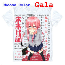 Future Diary Mirai Nikki T-Shirts Short Sleeve Shirts Japanese Anime Gasai Yuno Juno Second Future Diary Owner Cosplay Shirt