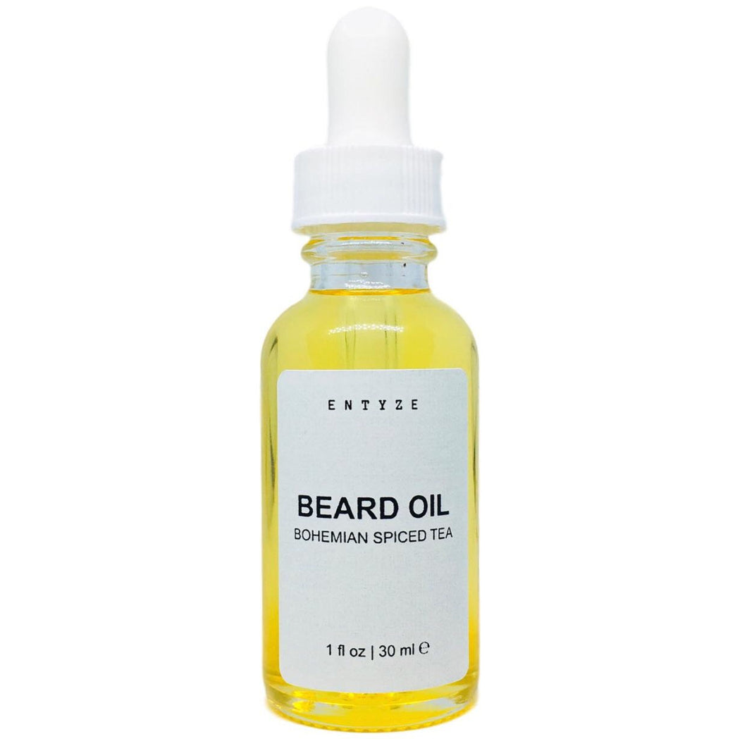 Bohemian Spiced Tea Beard Oil|Beard Tonic|Beard Oil|Beard Care|Beard Maintenance|Beard Grooming|Grooming|For Men|Gifts for Him|Gifts for boyfriend|Gifts for Husband|Beard Lotion|Beard Moisturizer|Entyze|Natural Skincare|Beard Care Products|Best Beard Oil|Best Beard Grooming Products