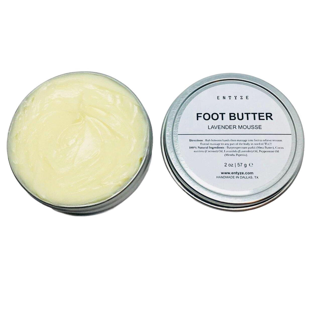 Lavender|Foot Butter|Foot Cream|Foot Care|Cracked Heels|Moisturizer|Dry Feet|Cracked Feet|Foot Lotion|Calluses on Foot|Dry Heels|Lotion|Lavender Lotion|Dry Skin Care|Skin Care|Natural Skin Care|Entyze