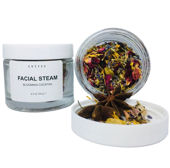 Blooming Cocktail Facial Steam-Facial Steam-Facial Products-Hydrating-Pore Cleansing-Steam Inhalation-Herbal Steam Facial-Facial-Facial Pore Cleanser-Facial Care-Herbal Tea-Entyze-Natural Skin Care