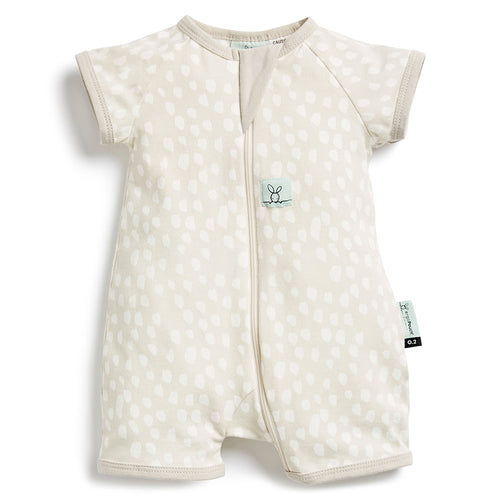 ergoPouch 0.2 tog Short Sleeve Bamboo Romper - Fawn