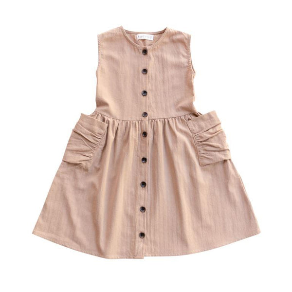 Ruffets and Co Miranda Dress - Sand