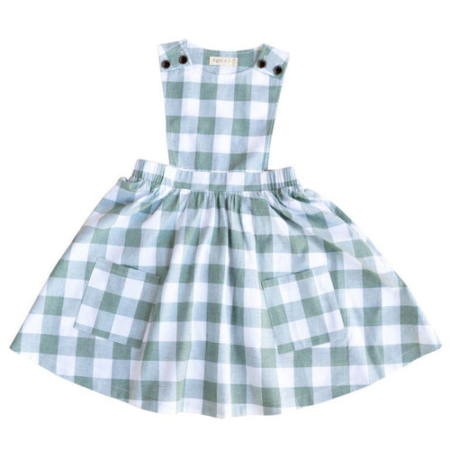 Ruffets and Co Penny Pinafore Dress - Check