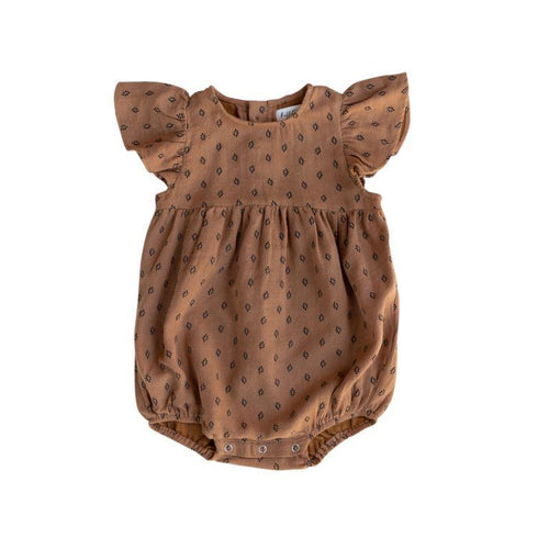 Ruffets and Co Willow Romper - Sugar