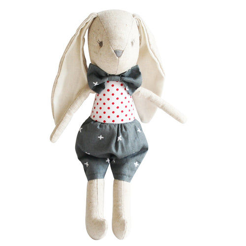 Alimrose Baby Louie Bunny - Grey Red