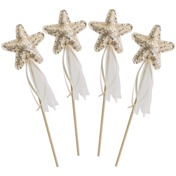 Alimrose Sequin Star Wand - Gold