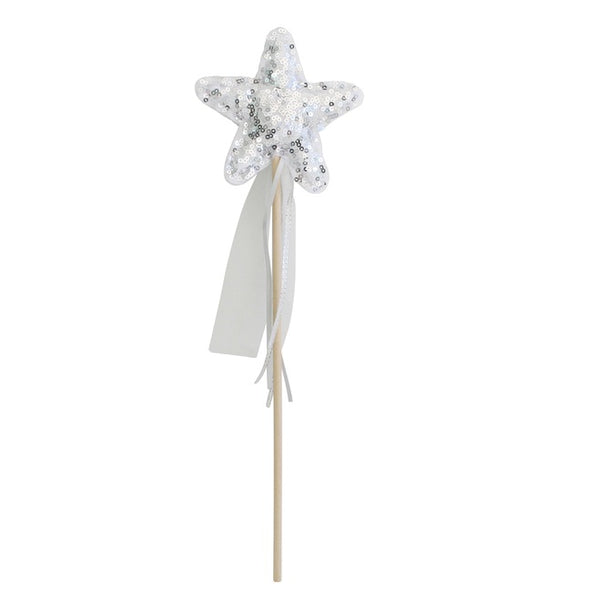 Alimrose Sequin Star Wand - Silver