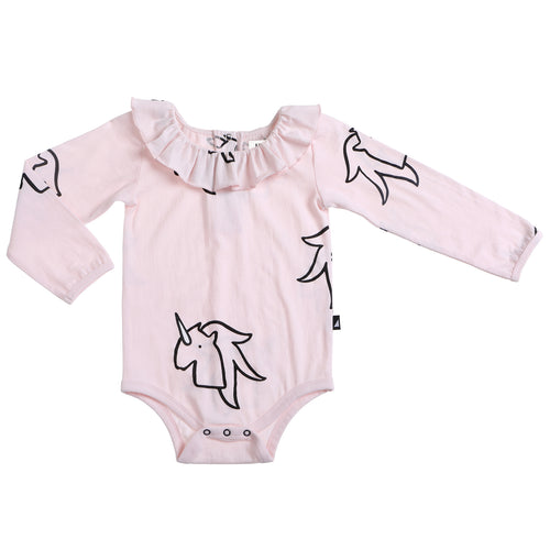 Anarkid Unicorn Frill Neck Leotard - Pink