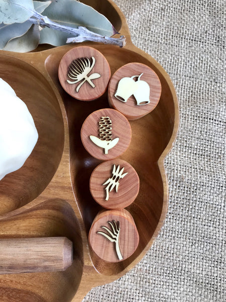 Beadie Bug Play - Play Dough Stamps - Australian Flora