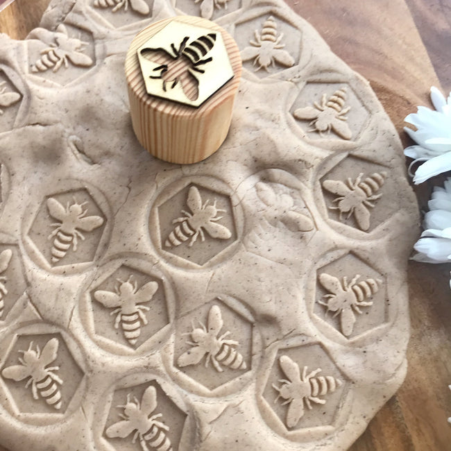 Beadie Bug Play - Play Dough Stamps - Bee