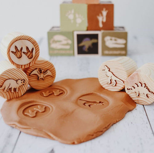 Beadie Bug Play - Play Dough Stamps - Dinosaur
