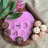 Beadie Bug Play - Play Dough Stamps - Numbers and Symbols