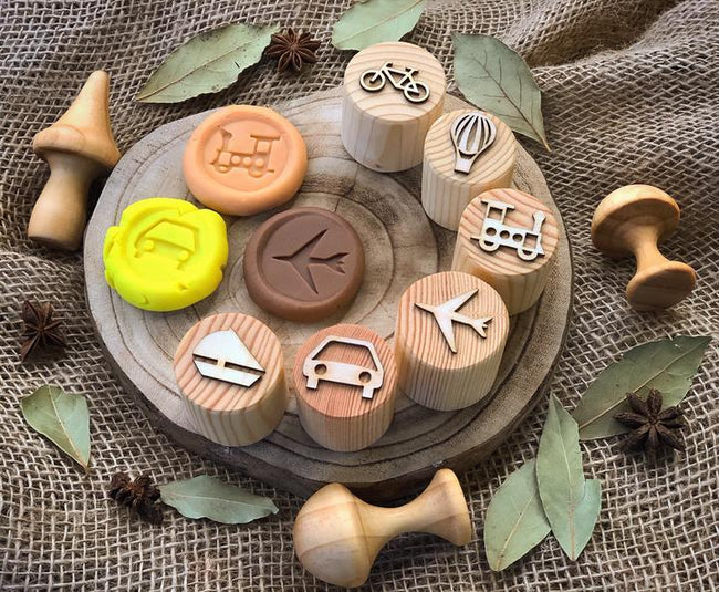 Beadie Bug Play - Play Dough Stamps - Transport