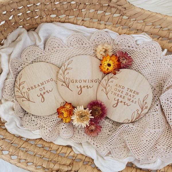 Bloomlette Timber Precious Journey Plaque Set - Etched