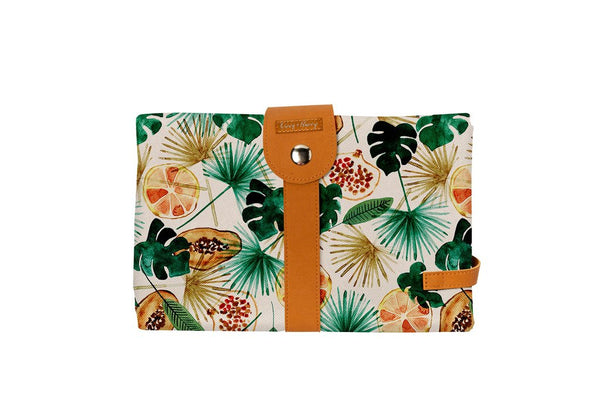 The Somewhere Co. Travel Baby Change Mat and Wallet - Summer Fruit