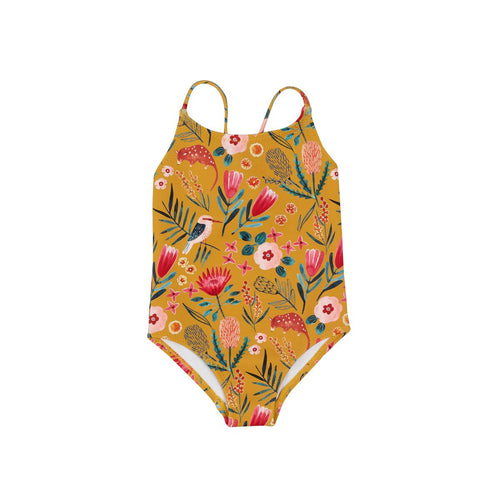 Goldie + Ace Cross Back Bathers - Native Garden