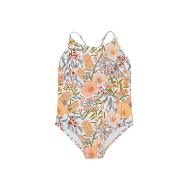 Goldie + Ace Cross Back Bathers - Vintage Floral