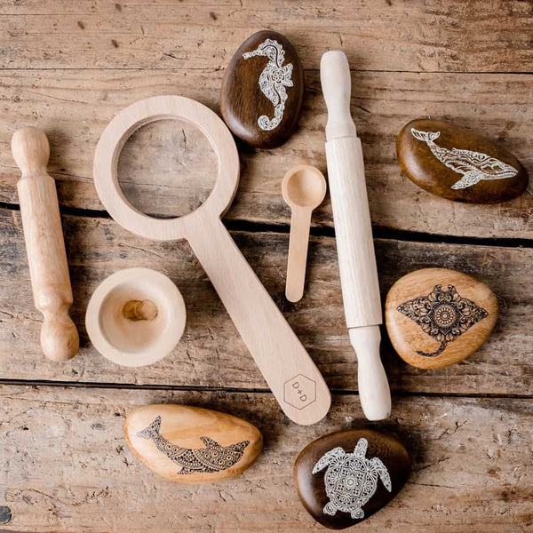 Growing Kind - Animal Wooden Pebble Set