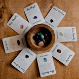 Growing Kind - Crystal Affirmations with Cards and Tumble Stones