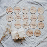 Hello Fern Wooden Month Milestone Disc Set - Classic