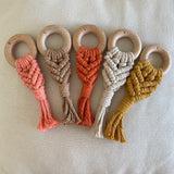 Love Macrame - Macrame Teether - Tangerine