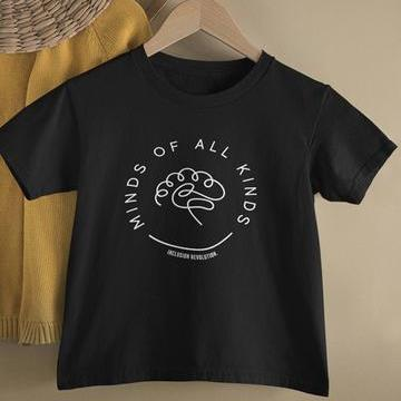 Inclusion Revolution Kids Tee - Minds Of All Kinds - Black