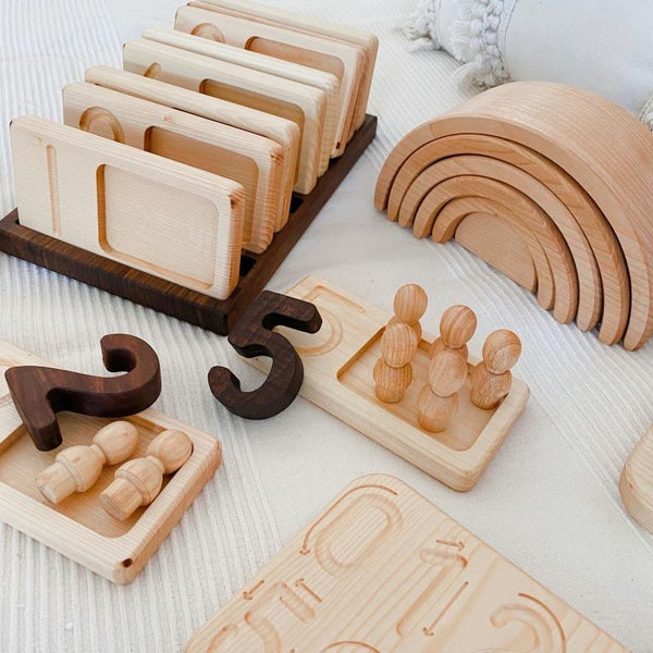 Qtoys - Natural Mini People in Tray