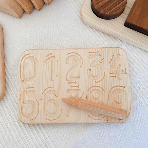 Wooden Number Tracing Board