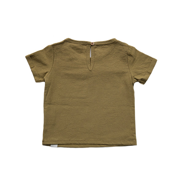 Bobby G Boxy Linen Tee - Forest