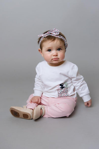 Love Henry Baby Head band - Pink Floral