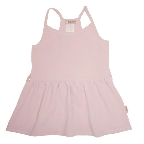 Love Henry Racer Back Floaty Top - Dusty Pink