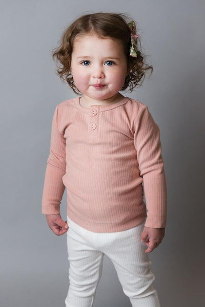 Love Henry Rib Top - Pink