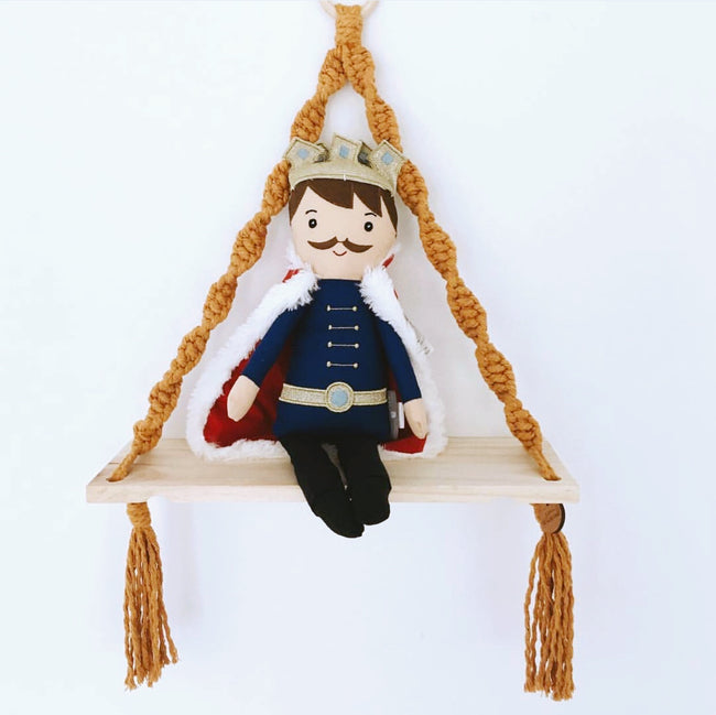 Love Macrame - Macrame Shelf Swing - Mustard