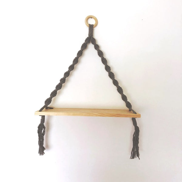 Love Macrame - Macrame Shelf Swing - Grey