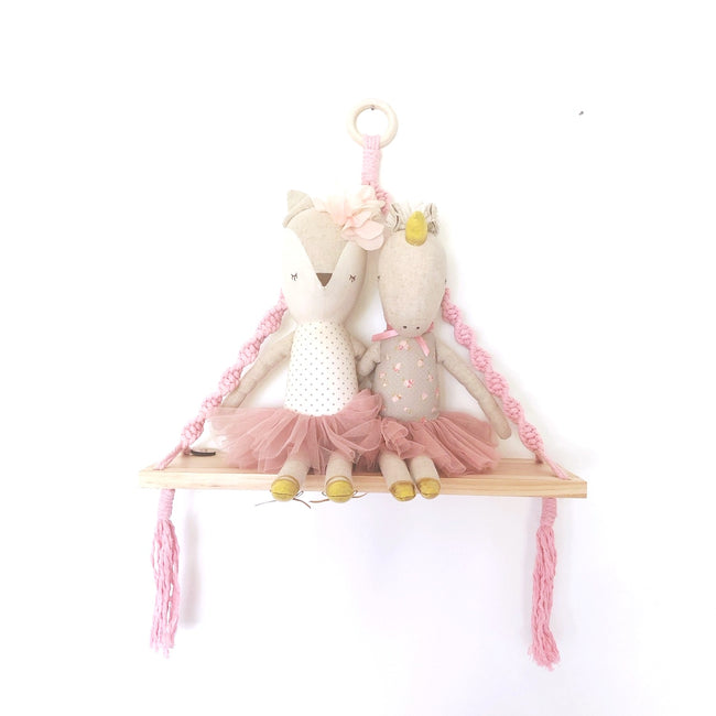 Love Macrame - Macrame Shelf Swing - Dusty Pink