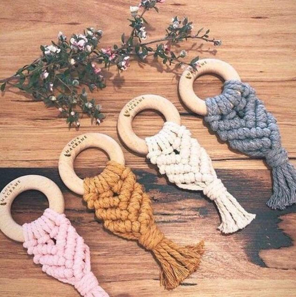 Love Macrame - Macrame Teether - Natural