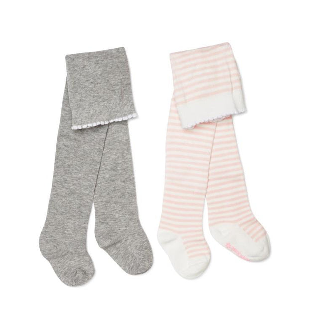 Marquise Knitted Tights - 2 Pack Grey/Pink
