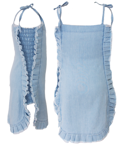 Miilovemu Denim Dress - Stonewash