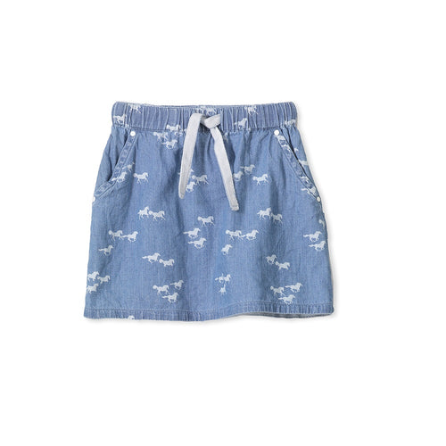Milky Chambray Skirt