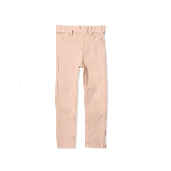 Milky Coloured Jean - Dusty Blush